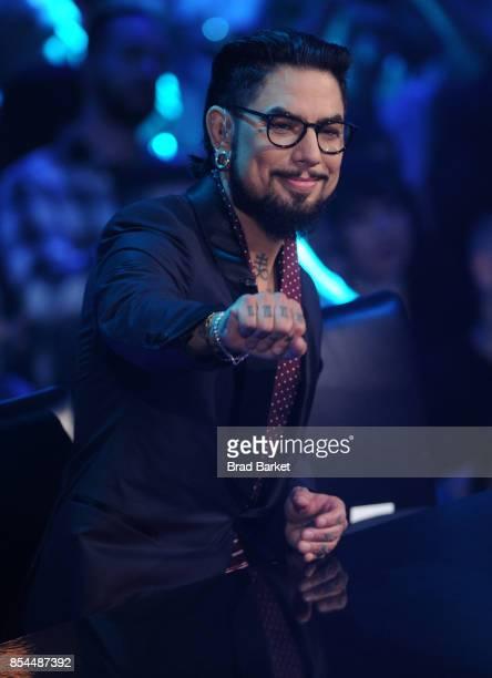 Host Dave Navarro reacts during the 'Ink Master' Season 9 LIVE Finale at The Manhattan Center on September 26 2017 in New York City