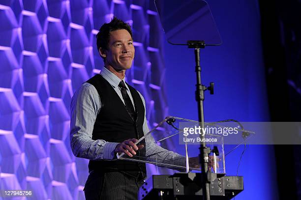 HGTV host David Bromstad speaks at 2011 WICT Leadership Conference and Touchstones Luncheon at New York Hilton and Towers on October 3 2011 in New...