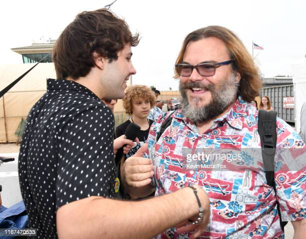 Host David Dobrik and Jack Black attend FOX's Teen Choice Awards 2019 on August 11, 2019 in Hermosa Beach, California.