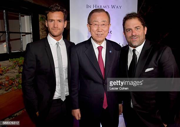 Host David Raymond UN SecretaryGeneral Ban Kimoon and host Brett Ratner attend the special event for UN SecretaryGeneral Ban Kimoon hosted by Brett...