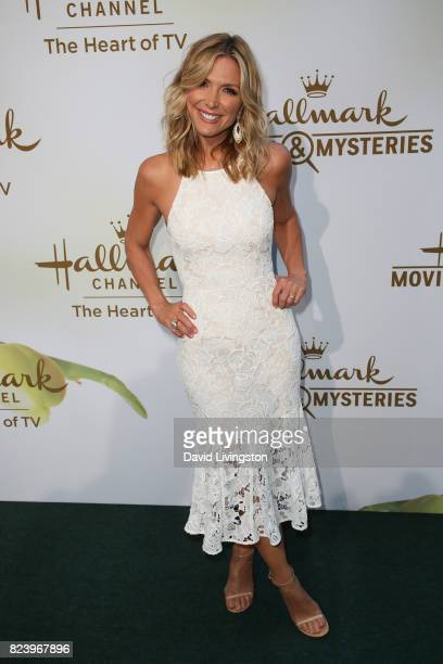 Host Debbie Matenopoulos attends the Hallmark Channel and Hallmark Movies and Mysteries 2017 Summer TCA Tour on July 27 2017 in Beverly Hills...