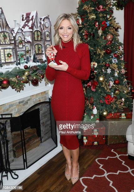 Host Debbie Matenopoulos on the set of Hallmark's 'Home Family' at Universal Studios Hollywood on December 18 2018 in Universal City California