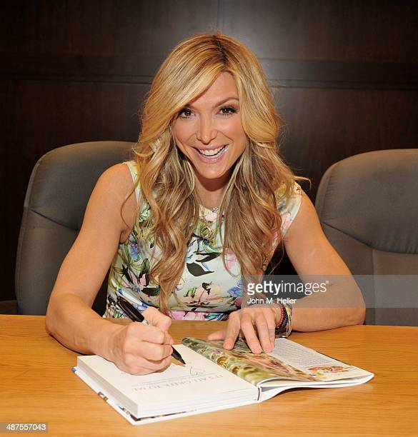 Host Debbie Matenopoulos signs copies of the new book 'It's All Greek To Me' at the Barnes Noble bookstore at The Grove on April 30 2014 in Los...