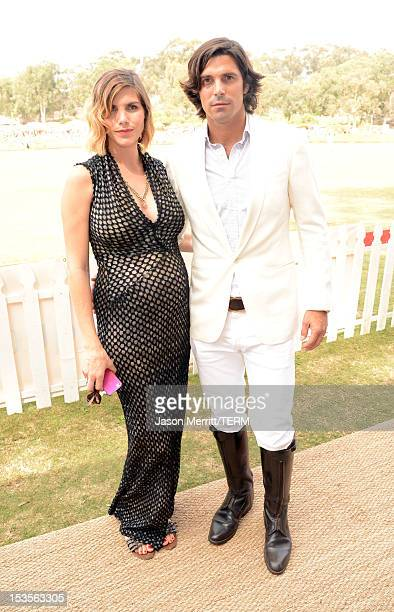 Host Delfina Blaquier and Polo player Nacho Figueras attends the Third Annual Veuve Clicquot Polo Classic at Will Rogers State Historic Park on...