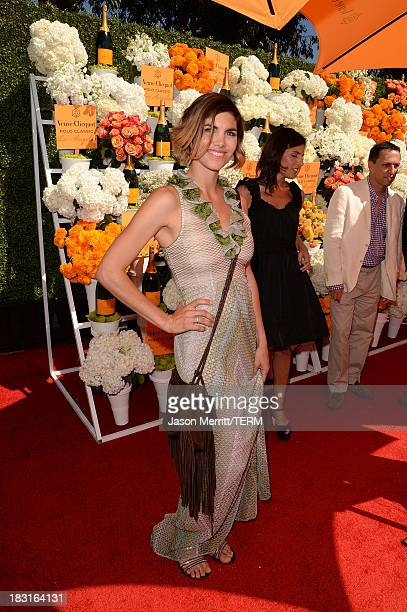 Host Delfina Blaquier attends The FourthAnnual Veuve Clicquot Polo Classic Los Angeles at Will Rogers State Historic Park on October 5 2013 in...