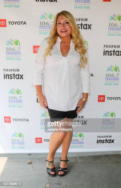 Host Delilah attends 1067 LITE FM's Broadway in Bryant Park August 16 2018 in New York City