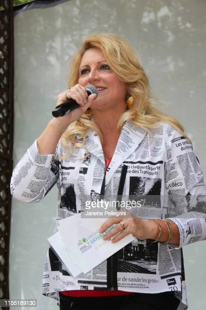 Host Delilah attends 1067 LITE FM's Broadway In Bryant Park on July 11 2019 in New York City