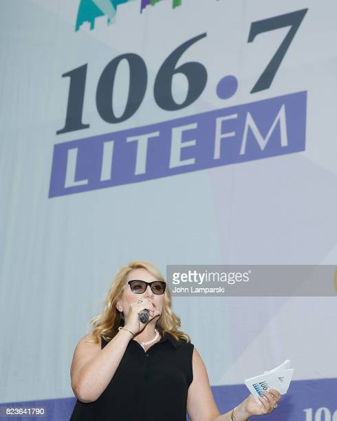 Host Delilah speaks during the 1067 Lite FM's Broadway in Bryant Park on July 27 2017 at Bryant Park on July 27 2017 in New York City