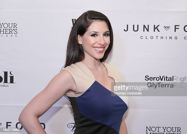 Host Diana Falzone attends STYLE360 Afterparty Celebrating Junk Food Curated by Kristin Cavallari at Haven Rooftop at The Sanctuary Hotel on...