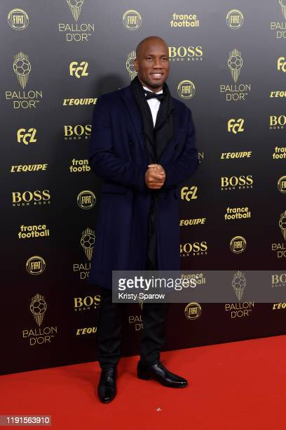 Host Didier Drogba walks the red carpet before the Ballon D'Or Ceremony at Theatre Du Chatelet on December 02, 2019 in Paris, France.