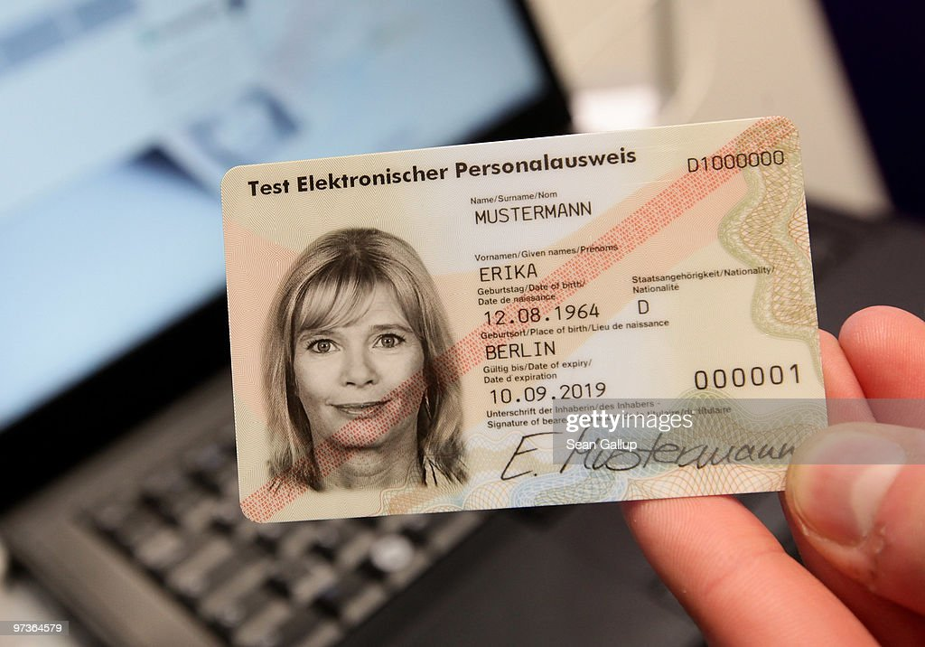 News Photo Card Identity National - German Getty The Host At Sample New A Images Displays