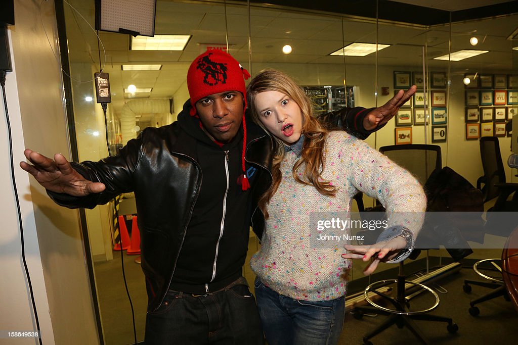 Host DJ Whoo Kid and chef Nadia G attend Nadia G And ASAP Rocky Invade The Whoolywood Shuffle at SiriusXM Studios on December 14, 2012 in New York City.