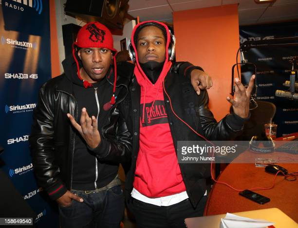 Host DJ Whoo Kid and rapper A$AP Rocky attend Nadia G And ASAP Rocky Invade The Whoolywood Shuffle at SiriusXM Studios on December 14 2012 in New...