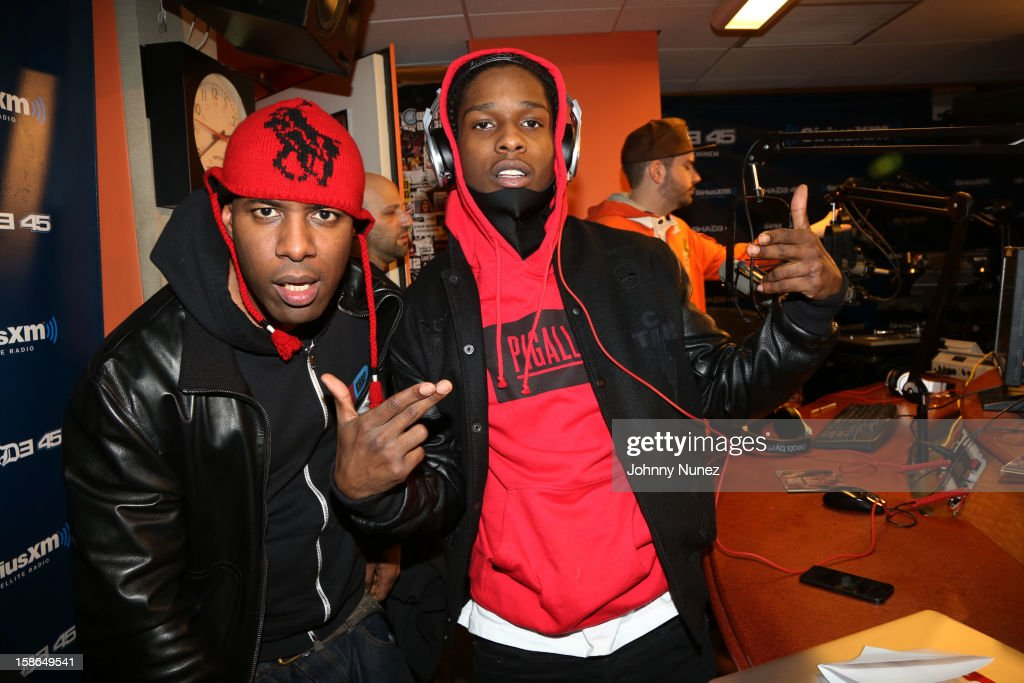 Host DJ Whoo Kid and rapper A$AP Rocky attend Nadia G And ASAP Rocky Invade The Whoolywood Shuffle at SiriusXM Studios on December 14, 2012 in New York City.