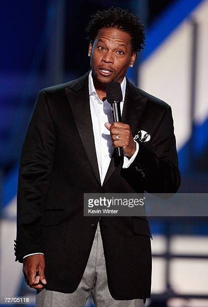 Host DL Hughley performs onstage during the VH1 Big in '06 Awards held at Sony Studios on December 2 2006 in Culver City California
