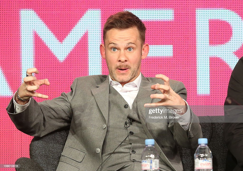 Host Dominic Monaghan speaks onstage at the 'Wild Things with Dominic Monaghan' panel discussion during the BBC America portion of the 2013 Winter TCA Tour- Day 2 at Langham Hotel on January 5, 2013 in Pasadena, California.