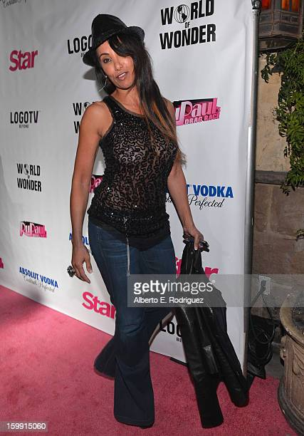 """Host Downtown Julie Brown arrives to the premiere of """"RuPaul's Drag Race"""" Season 5 at The Abbey on January 22, 2013 in West Hollywood, California."""