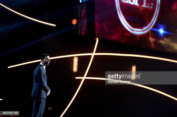 Host Drake onstage during The 2014 ESPYS at Nokia Theatre LA Live on July 16 2014 in Los Angeles California