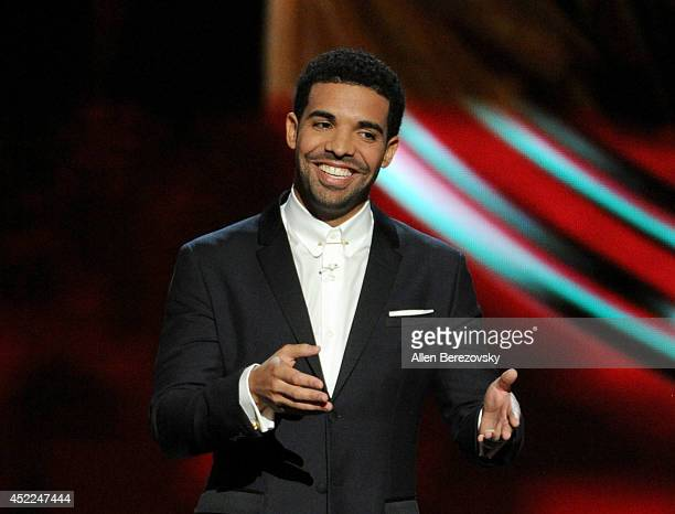 Host Drake speaks onstage at the 2014 ESPY Awards at Nokia Theatre LA Live on July 16 2014 in Los Angeles California