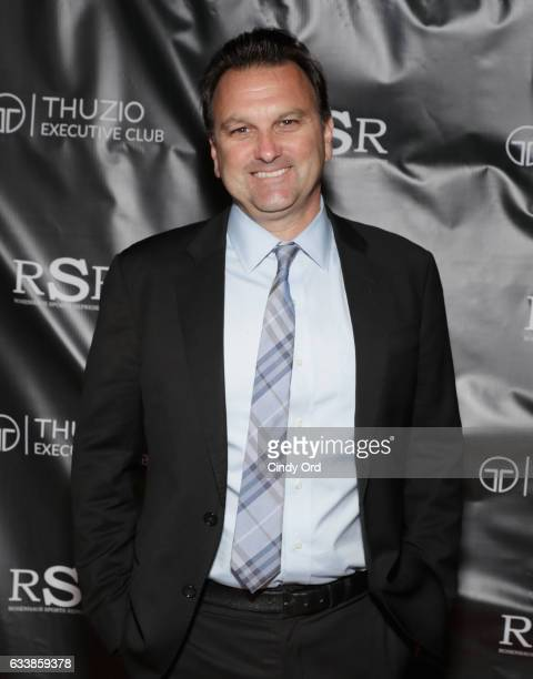 Host Drew Rosenhaus arrives at the Thuzio Executive Club and Rosenhaus Sports Representation Party at Clutch Bar during Super Bowl Weekend, on...