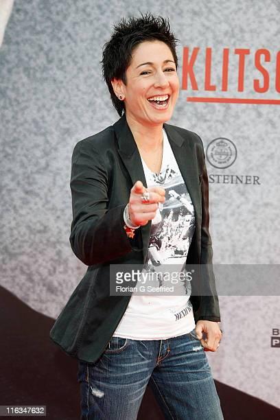 TV host Dunja Hayali attends the Premiere of 'Klitschko' at CineStar on June 15 2011 in Berlin Germany