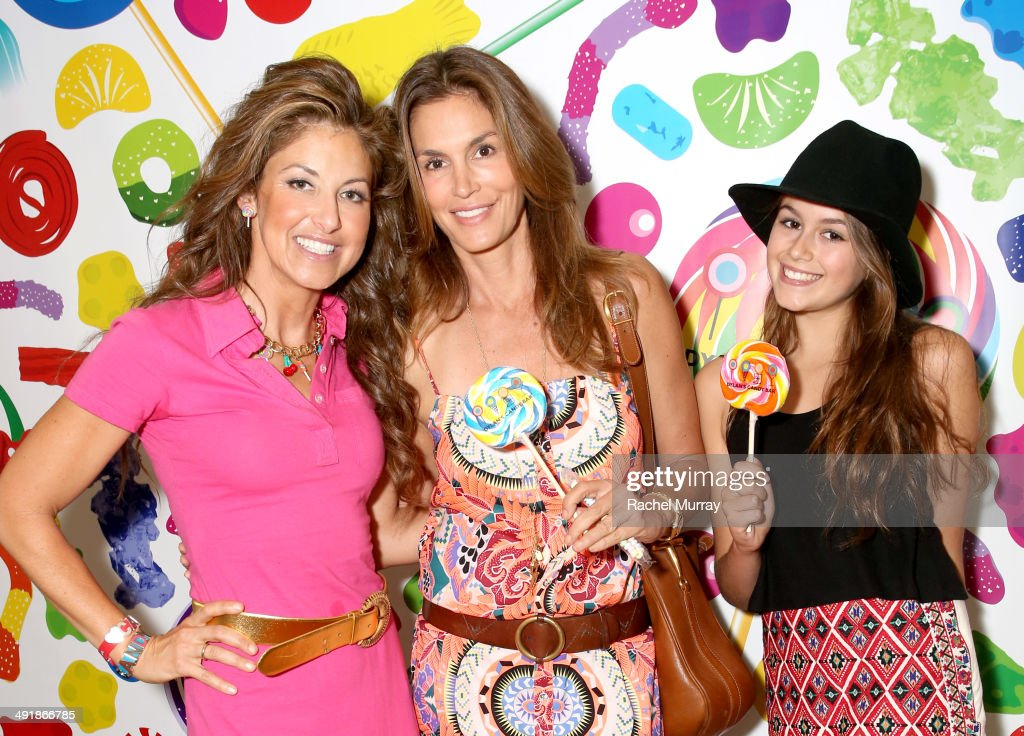 Host Dylan Lauren, Cindy Crawford and daughter Kaia Crawford attend Dylan's Candy Bar Candy Girl Collection LA launch event at Dylan's Candy Bar on May 17, 2014 in Los Angeles, California.