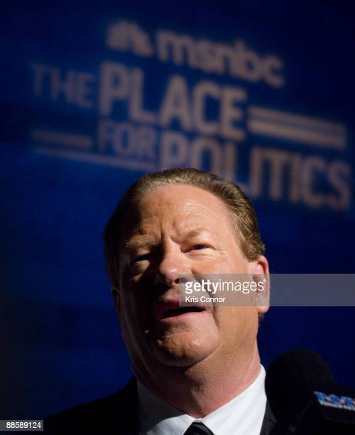 MSNBC host Ed Schultz attends MSNBC's Radio and Television Correspondents Dinner after party at the Historical Society of Washington DC on June 19...