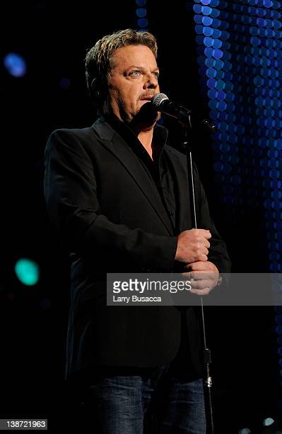 Host Eddie Izzard speaks onstage at the 2012 MusiCares Person of the Year Tribute to Paul McCartney held at the Los Angeles Convention Center on...
