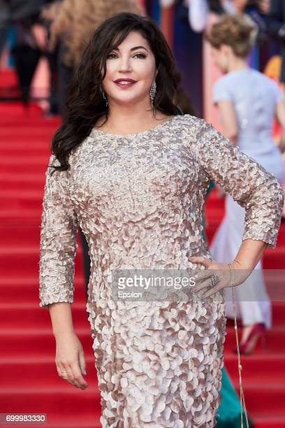 TV host editorial director of The Hollywood Reporter magazine Maria Lemesheva attends opening of the 39th Moscow International Film Festival outside...