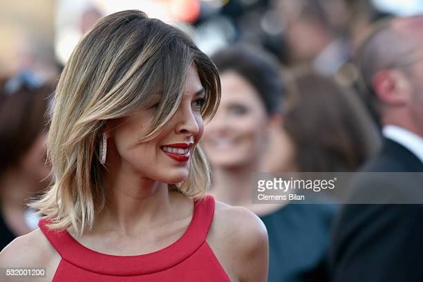 TV host Eleonore Boccara attends the Julieta premiere during the 69th annual Cannes Film Festival at the Palais des Festivals on May 17 2016 in...