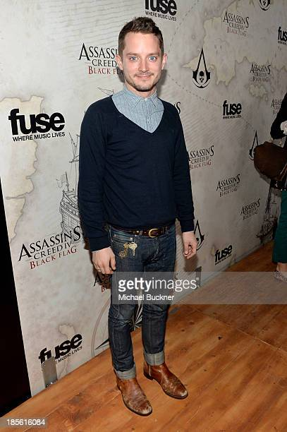 Host Elijah Wood attends the Assasin's Creed IV Black Flag Launch Party at Greystone Manor Supperclub on October 22 2013 in West Hollywood California