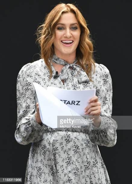 Host Elizabeth Wagmeister speaks onstage during Starz FYC 2019 — Where Creativity Culture and Conversations Collide on June 02 2019 at Westfield...