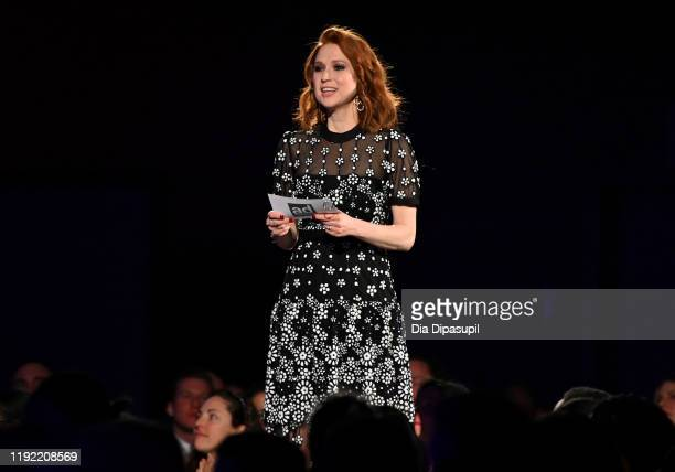Host Ellie Kemper speaks onstage during the 2019 Ad Council Dinner on December 05, 2019 in New York City.