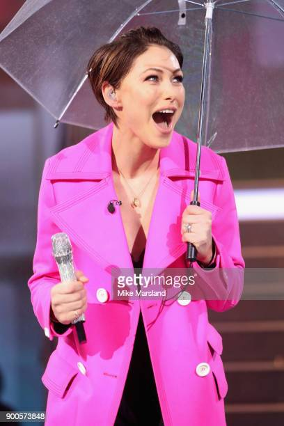 Host Emma Willis attends the launch night of Celebrity Big Brother at Elstree Studios on January 2 2018 in Borehamwood England