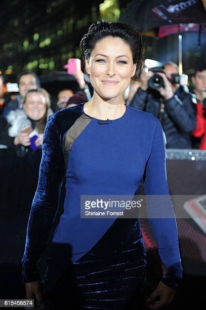 Host Emma Willis attends the red carpet launch for The Voice UK at Media City on October 18 2016 in Manchester England