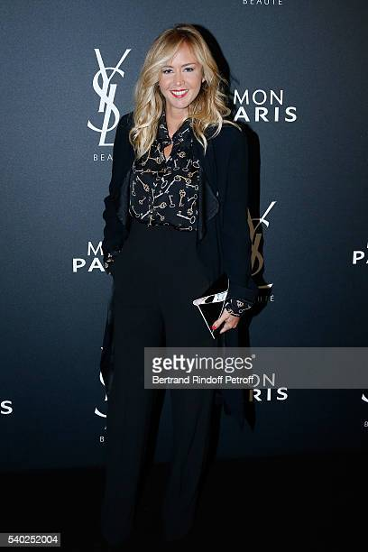 Host Enora Malagre attends YSL Beauty launches the new Fragrance 'Mon Paris' at Cafe Le Georges on June 14 2016 in Paris France