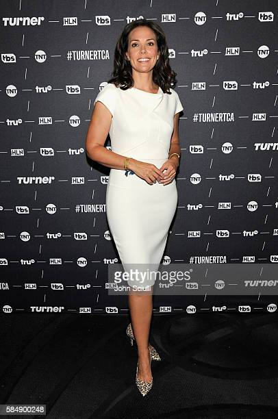 Host Erica Hill of HLN attends the TCA Turner Summer Press Tour 2016 Presentation at The Beverly Hilton Hotel on July 31 2016 in Beverly Hills...