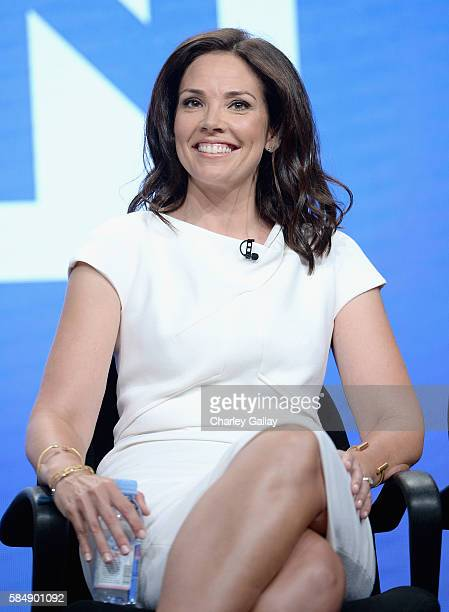 HLN host Erica Hill speaks onstage during the 'Live from NY LA Atlanta' panel at the TCA Turner Summer Press Tour 2016 Presentation at The Beverly...
