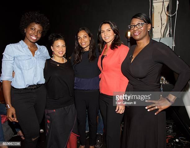 Host Erica Williams Simon Black Lives Matter organizer Dr Melina Abdullah Actress Rosario Dawson Congresswoman Tulsi Gabbard and Senator Nina Turner...