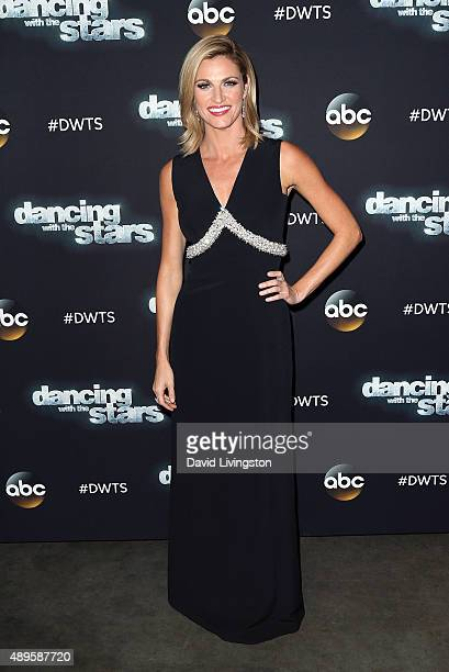 """Host Erin Andrews attends """"Dancing with the Stars"""" Season 21 at CBS Televison City on September 22, 2015 in Los Angeles, California."""