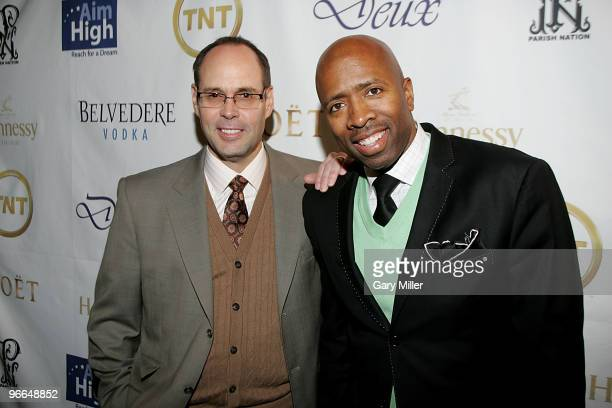 Host Ernie Johnson and Kenny Smith on the red carpet for the Kenny Smith All-Star Bash at Deux Lounge on February 12, 2010 in Dallas, Texas.