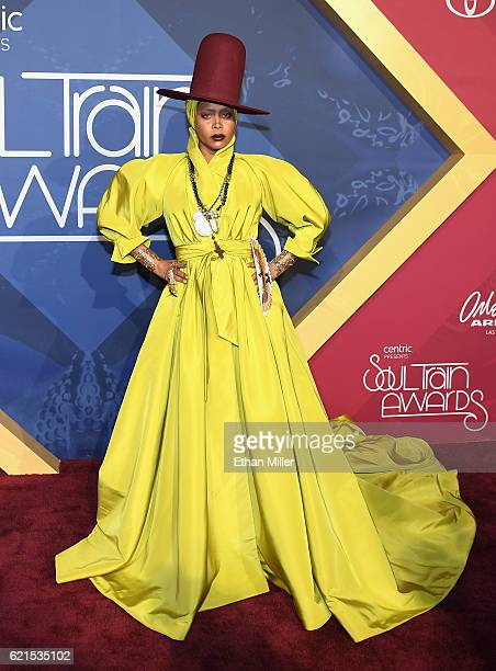Host Erykah Badu attends the 2016 Soul Train Music Awards at the Orleans Arena on November 6 2016 in Las Vegas Nevada