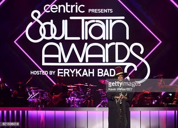 Host Erykah Badu speaks onstage during the 2016 Soul Train Music Awards on November 6 2016 in Las Vegas Nevada