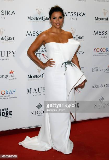 Host Eva Longoria attends the Eva Longoria Global Gift Gala during the 70th annual Cannes Film Festival at on May 19 2017 in Cannes France