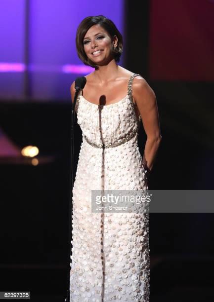 Host Eva Longoria Parker onstage at the 2008 ALMA Awards at the Pasadena Civic Auditorium on August 17 2008 in Pasadena California