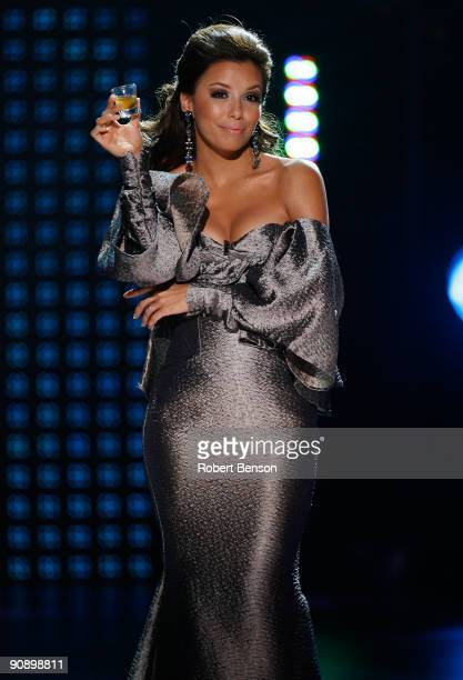 Host Eva Longoria Parker performs onstage at the 2009 ALMA Awards held at Royce Hall on September 17, 2009 in Los Angeles, California.