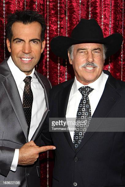 Host Felipe Viel and actor Andres Garcia attend the 'Mi Sueno Es Bailar' season 4 press conference on March 13 2013 in Burbank California