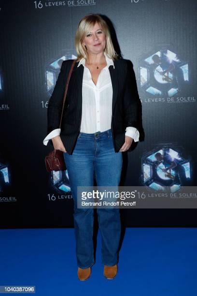 TV host Flavie Flament attends the 16 Levers de Soleil Paris Premiere at Le Grand Rex on September 25 2018 in Paris France