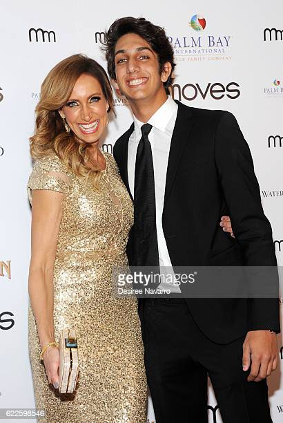 TV host for Univision Lili Estefan and her son Lorenzo Luaces Jr attend 2016 New York Moves Awards at India House Club on November 11 2016 in New...