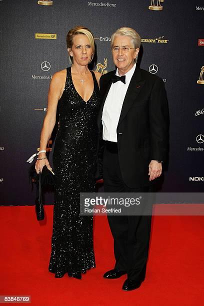 TV host Frank Elstner and wife Britta Gessler arrive at the Bambi Awards 2008 on November 27 2008 in Offenburg Germany
